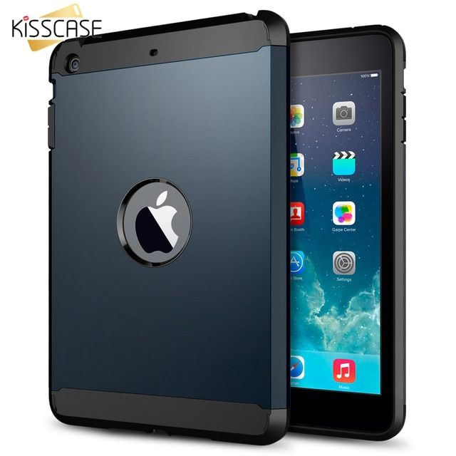 KISSCASE For iPad Mini 1 2 Retina Cover Hard Hybrid Armor Soft TPC + PC Slim With Original Logo Case For ipad mini1/mini2