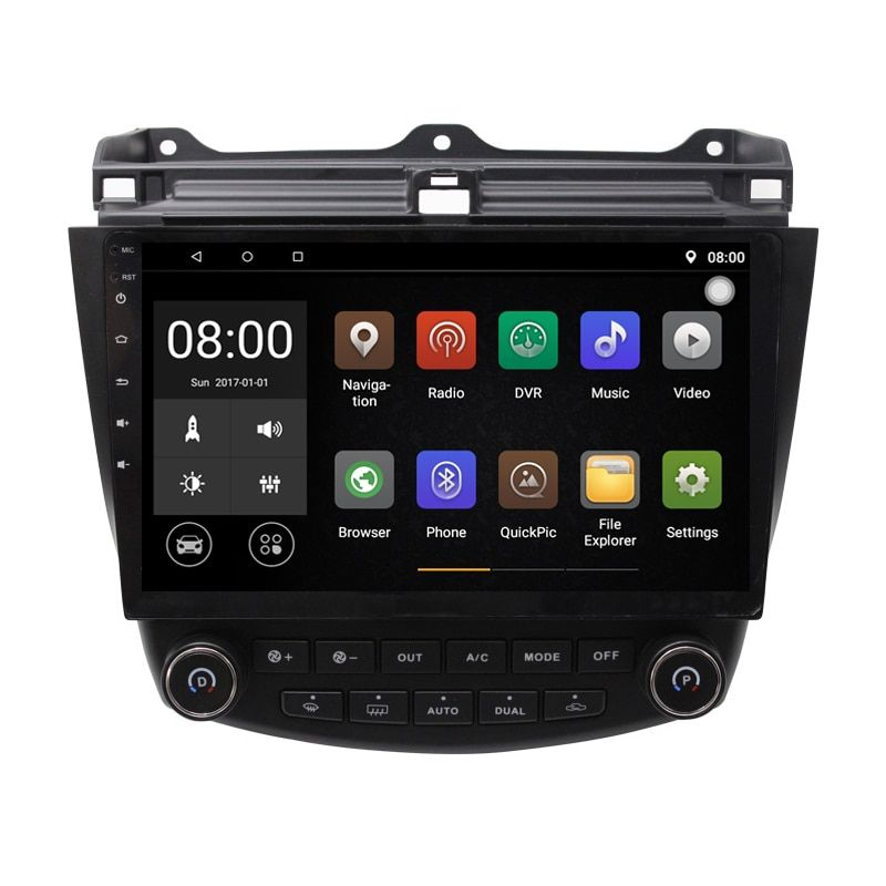 Android 9.1 Car DVD Player GPS Navigation System for Honda Accord 2003-2007 Single or Dual zone Climate Control Radio