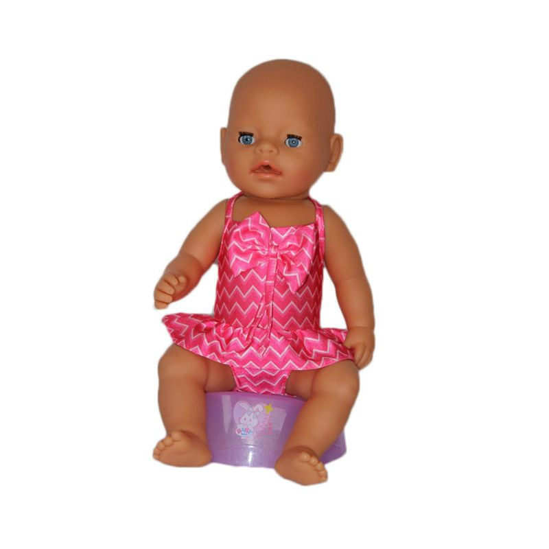 ZXZ3pcs Zapf Doll Clothes, Cute Red Swimsuit Suitable for 43cm Newly Born Baby Zapf Doll Clothes Accessories, The Best Gift