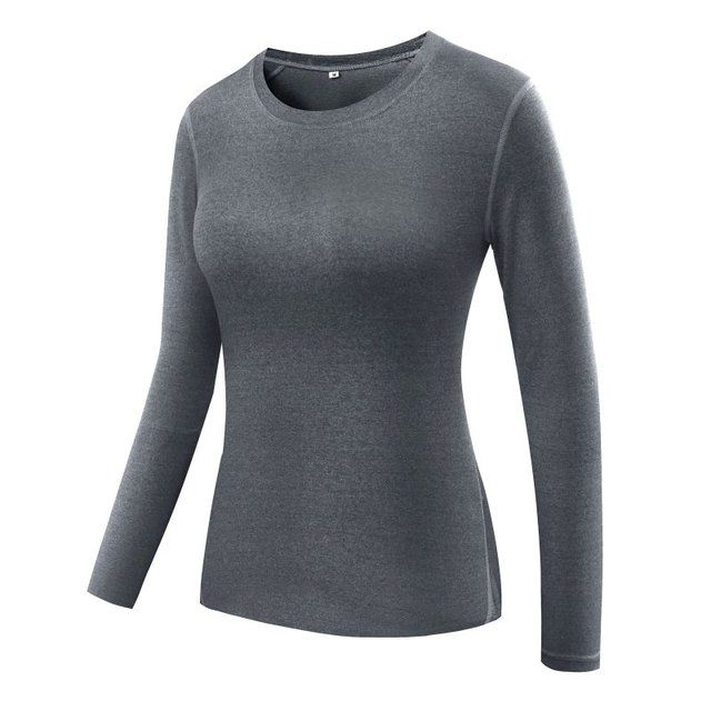 Women Gym Fitness Yoga Shirts Compression Women's Sport Long Sleeve Running Tees Tops