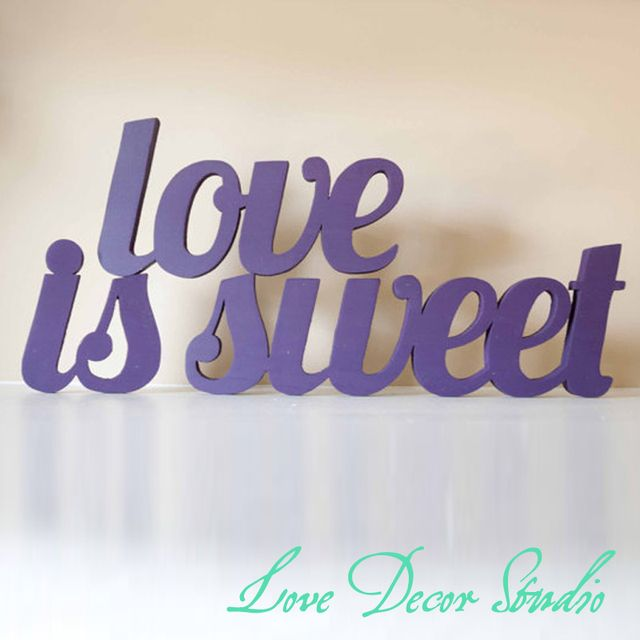 love sign Wooden letters, Wedding Candy Bar, Candy Buffet, Love Is Sweet