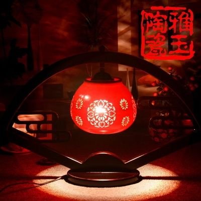 Antique LED E27 110V 220V Bedroom Sector Wooden Table Lamps With Ceramic Lampshade Reading Desk Lights Wedding Gift