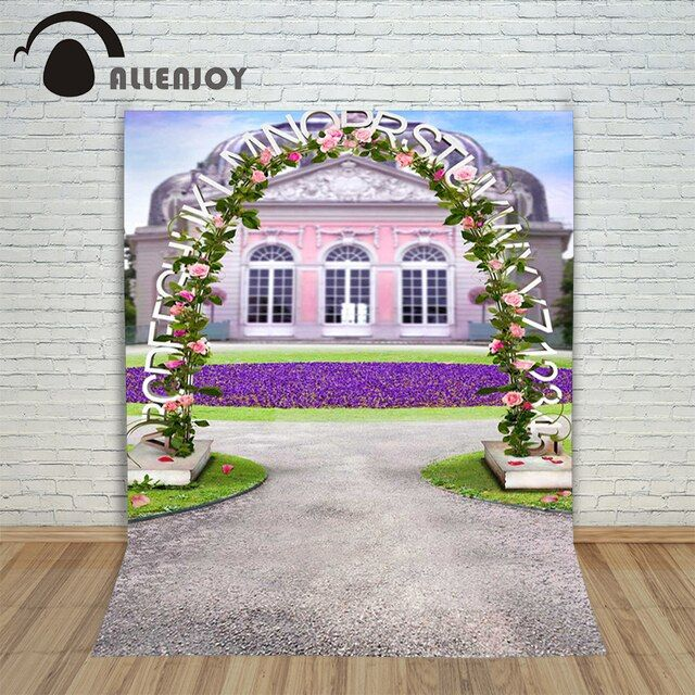 Allenjoy photographic background Flower arches Wedding Palace backdrops princess wedding studio