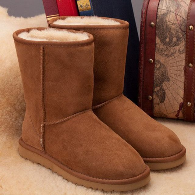 Hot Selling 100% Real Sheepskin Brand Classic Snow Boots For Women Winter Boots Wholesale Retail Free Shipping Drop Shipping