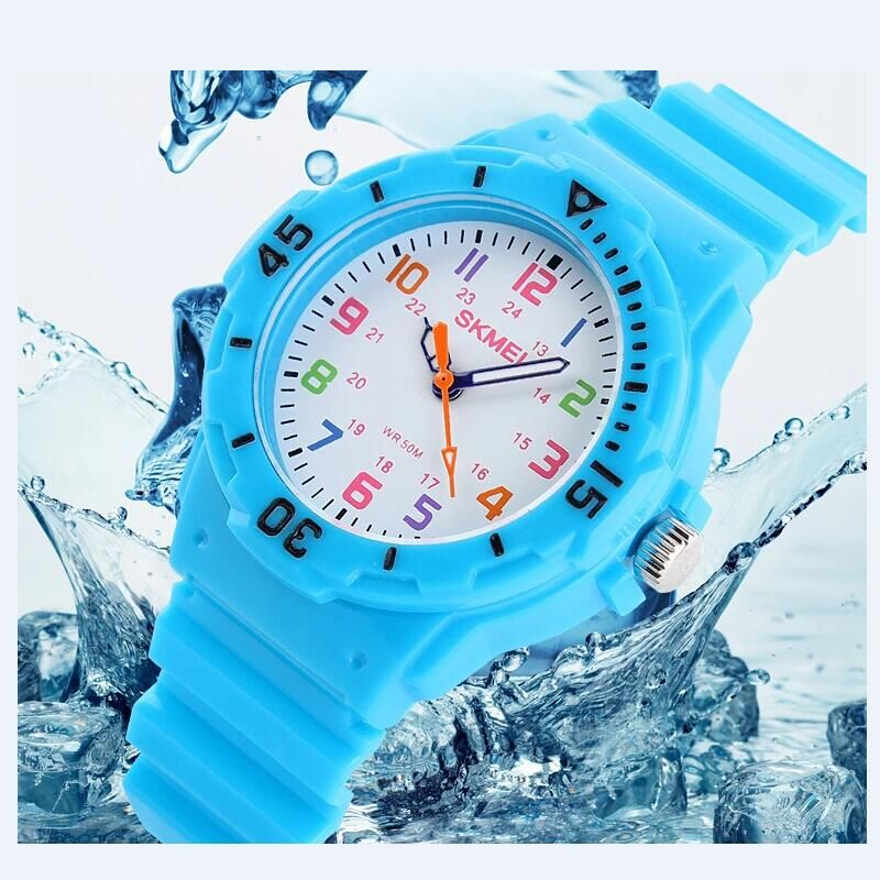 Fashion Brand Children Quartz Watch Waterproof Jelly Kids Watches For boys girls Students Wristwatch 7COLORS