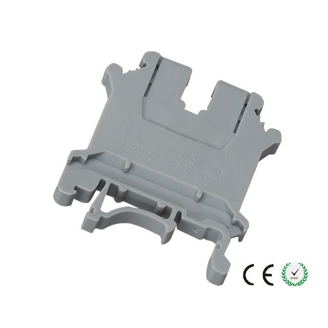 1PC Wire Cable Terminal UK5N DIN rail Wiring board connector terminals 4mm square voltage  copper part CE certification