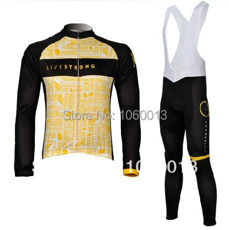 free shipping!2012 livestrong yellow winter bicycle clothes/thermal fleece long sleeve cycling jersey