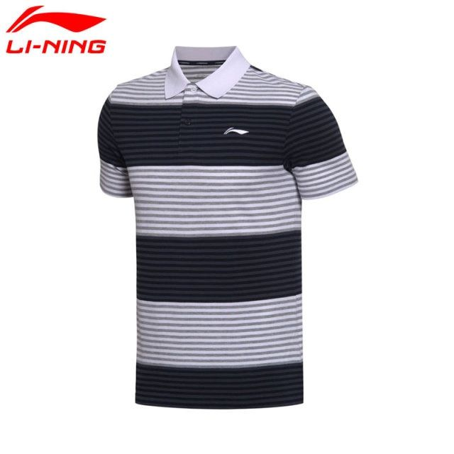 Li-Ning Men's Training Polo T-Shirts 100% Cotton Short Sleeve LiNing T Shirt Sports Tees Tops APLM107 MTP461