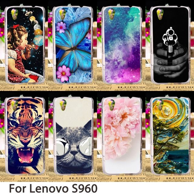 TAOYUNXI Smartphone Cases For Lenovo Vibe X S960 5.0 inch S 960 Case Animals Flowers Hard Back Cover Skin Hood Bag Shell