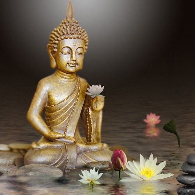 DIY Diamond Mosaic Diamond Painting Buddha lotus Cross Stitch Kits Diamonds Embroidery Square rhinestones Home Decor R17