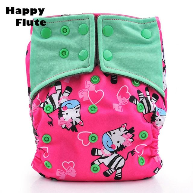 10 PCS 1 LOT Happy Flute Cloth Diaper Bamboo Charcoal Washable Reusable Baby Pocket Diapers Modern Cloth Nappies Couche Lavable