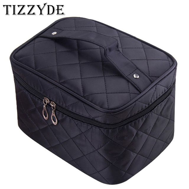 Cosmetic box 2018 female Quilted professional cosmetic bag women's large capacity storage handbag travel toiletry makeup bag ML1
