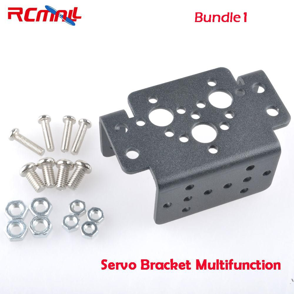 RCmall Aluminum  Multifunction Servo Bracket for MG995 MG996R S3003 or for MG946R or Robot Foot Bracket U-Shaped Robot Bracket