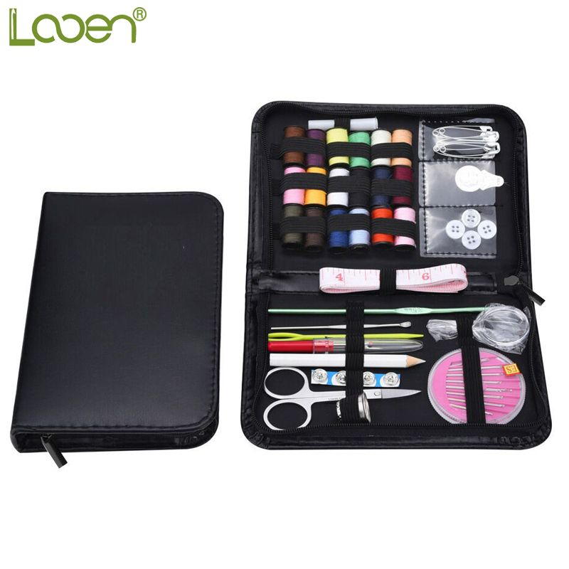 Looen Practical Sewing Tool Set Crochet Hooks Threads Needles Stitches Knitting Craft Case Travel Sewing Accessories For Women