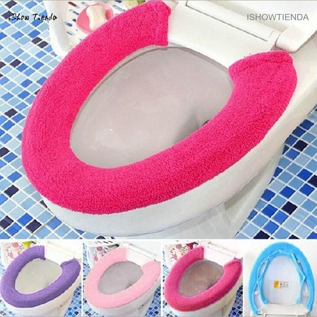 ISHOWTIENDA 1PC 70cm*15cm*5cm All Type Warm Soft Toilet Cover Seat Lid Pad Bathroom Closestool Protector New