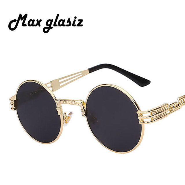 men brand vintage round sun glasses 2017 New silver gold metal mirror small round sunglasses women cheap high quality UV400
