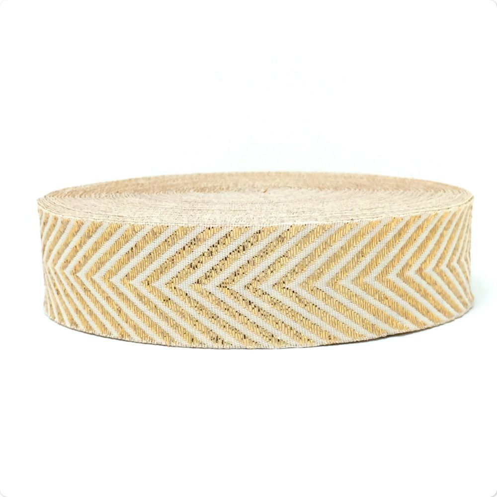 "ZERZEEMOOY 1"" 25mm 10yards/sets 100% Polyester Woven Jacquard Ribbon Gold silk herringbone chain ribbon with the dog ribbon"