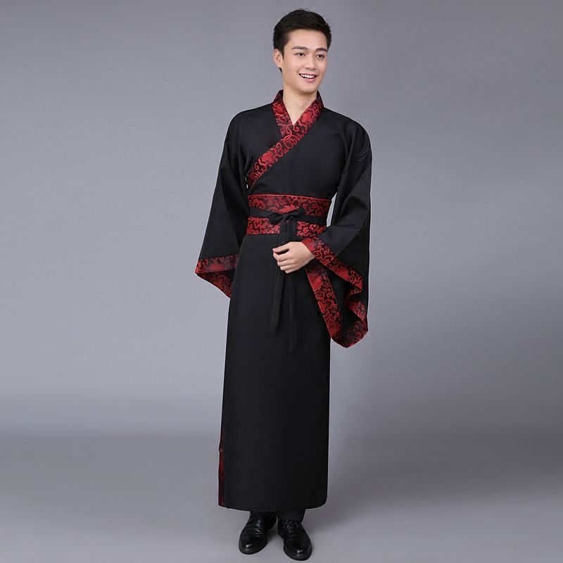 New 5 Color Ancient Chinese Hanfu Costume Men Clothing Traditional China Tang Suit Oriental Chinese Traditional Dress Men