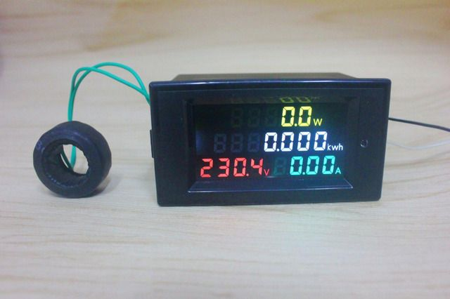 Digital AC Voltage Meters 100A 200~450V 380V electric Power Energy Voltmeter Ammeter watt Amps Volt voltage meter