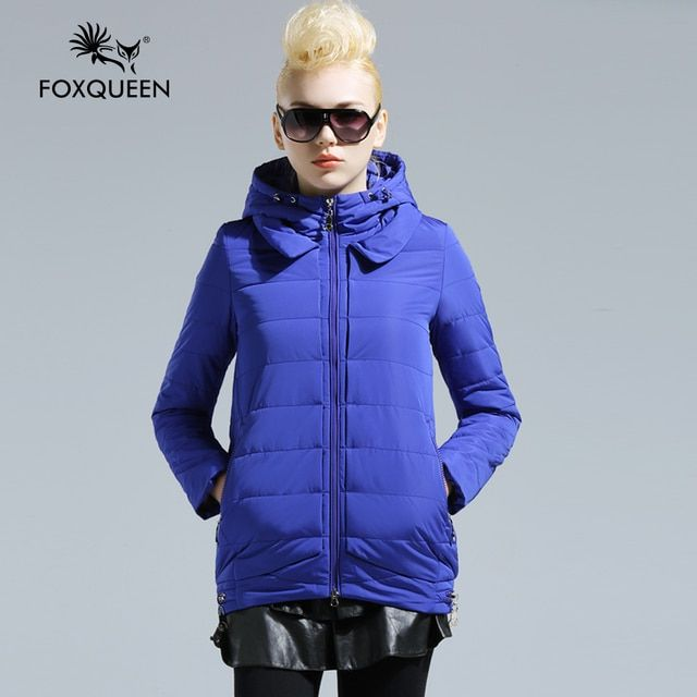Foxqueen 2016 New Women's Long Design Ladies Winter Warm Coat Women's Cotton Padded Thin Coat  Women's  Warm Outwear Clothing