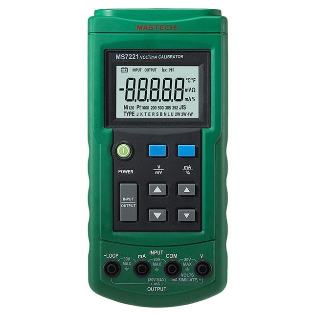 Mastech MS7221 Volt/mA Voltage Current Calibrator Source/Output Step DC 0-10V 0-24mA Tester Meter