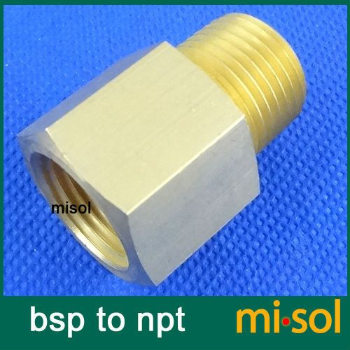 "1 pcs of Adaptor fitting 1/2"" BSP (DN15) male to 1/2"" NPT female, Brass"