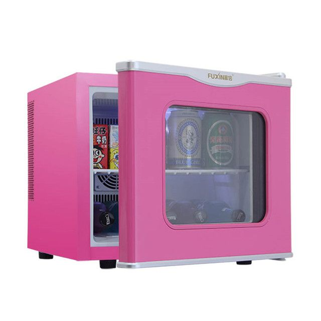 Household 17L mini dormitory refrigerator fresh Chilled glass single-door food sample cabinet small semiconductor refrigerator