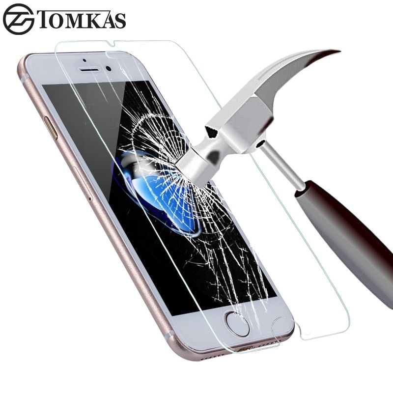 Tempered Glass for iPhone 7 6 6S Plus 8 Plus X Explosion-Proof Screen Protector For iPhone 5 5S SE 5C 4S Glass Protective Film