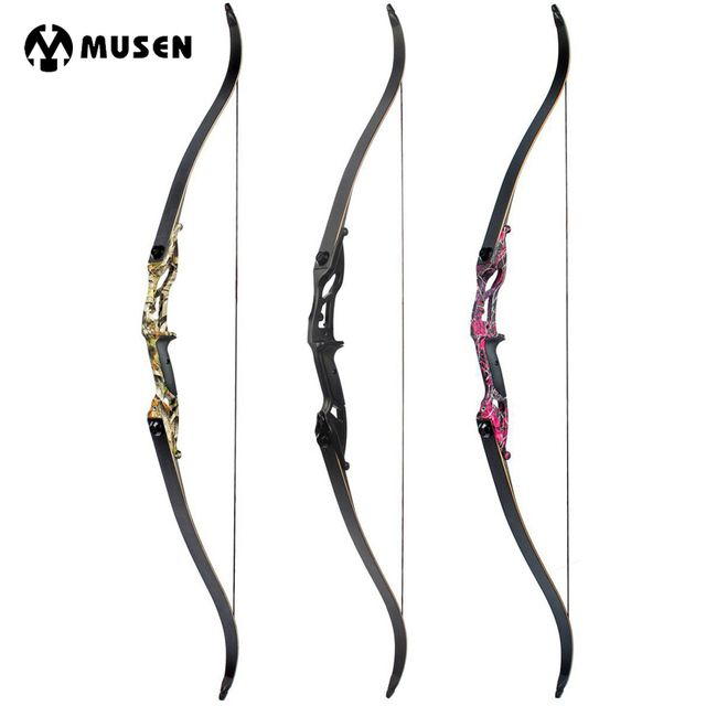 "30-50lbs Recurve Bow 56"" American Hunting Bow Black/Red Camo/Camo Archery With 17 inches Riser Tranditional Long Bow for Archery"