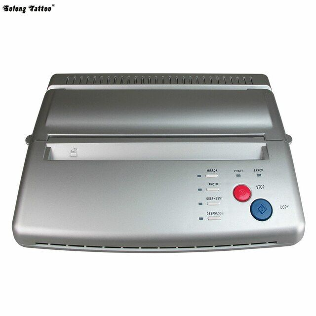 Solong Tattoo Top Quality Tattoo Stencil Transfer Machine Thermal Copier Maker For Transfer Papers 20 Pcs Transfer Paper T101