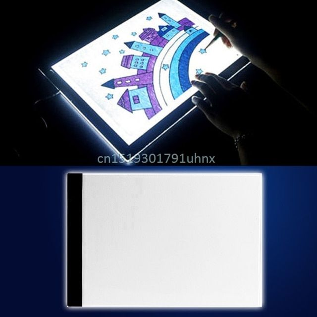 1 Set A4 LED Artist Thin Art Stencil Board Light Box Tracing Drawing Board