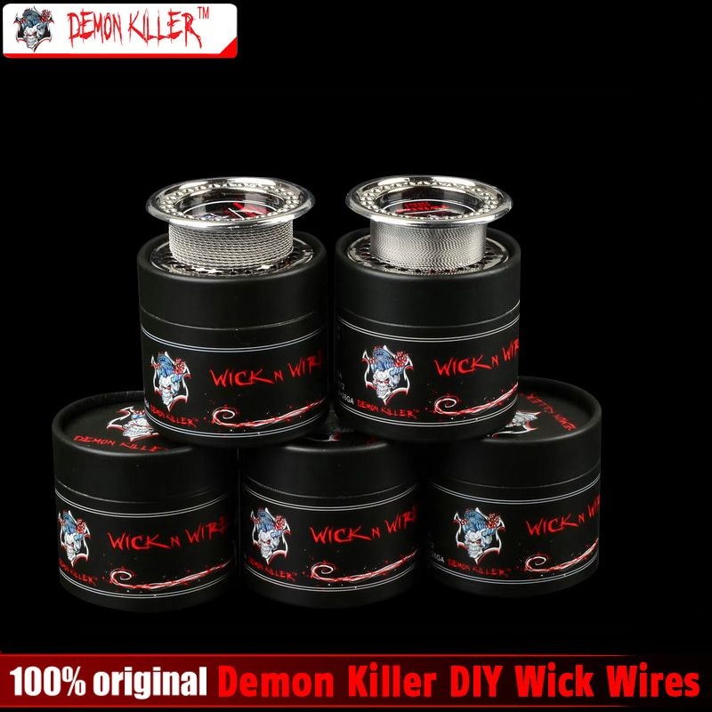 Demon Killer Wire DIY Atomizer Coils clapton tiger quad twisted alien fused clapton flat twisted mix wire for RDA & RBA Atomizer