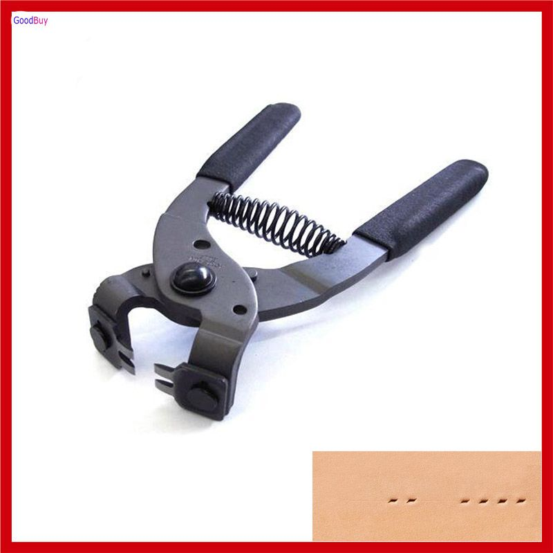 New Professional 4mm Pitch 2 Prong Leather Hole Punch Leahter Stitching Hole Punch Plier Clamp Cutter