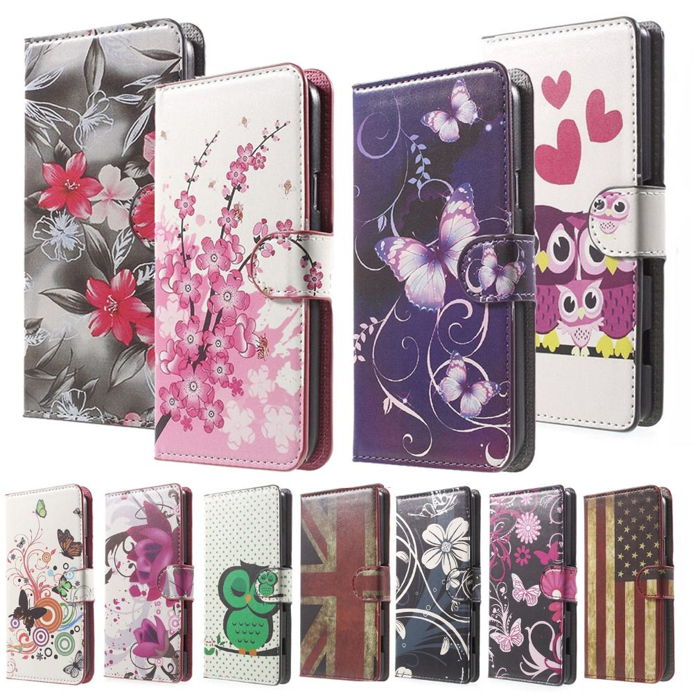 Pink Plum Magnetic Leather Wallet Cover case for flip Microsoft Lumia 435 / Dual Sim phone bags coque funda shell for lumia 435