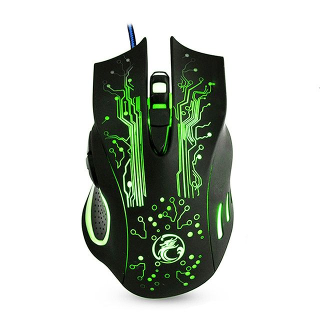 Professional USB Gaming Mouse 5000DPI Wired Optical Mouse 6 Buttons E-Sports Computer Mice Ratones Pc High Quality X9