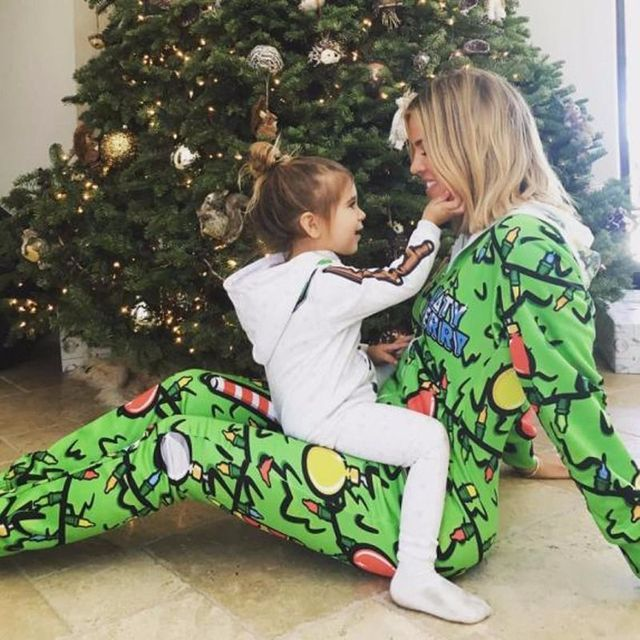 Family Matching Christmas Pajamas Set Women Baby Deer Sleepwear Nightwear Female Cute Suit