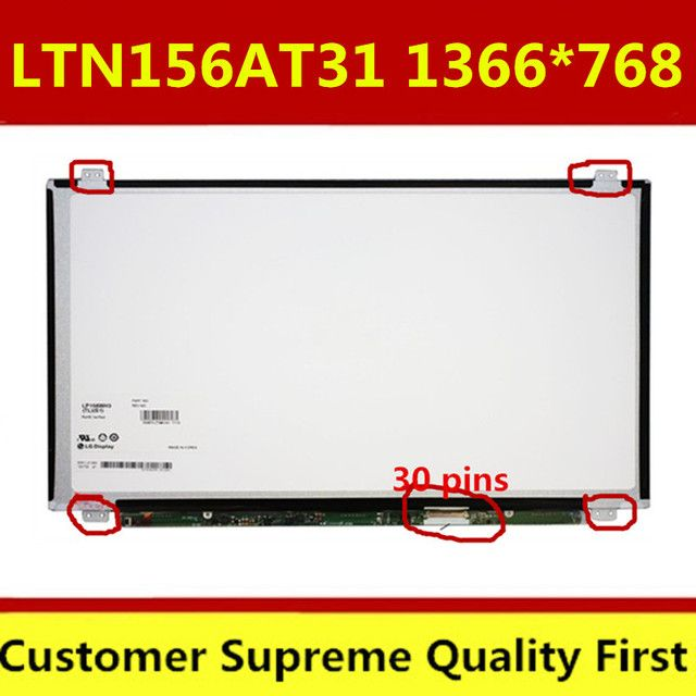 15.6 LCD matrix B156XTN03.3 N156BGE-EB1 N156BGE-E31 LP156WHU TPA1 B156XTN03.1 LTN156AT31 SLIM LED SCREEN EDP 30pin LCD display