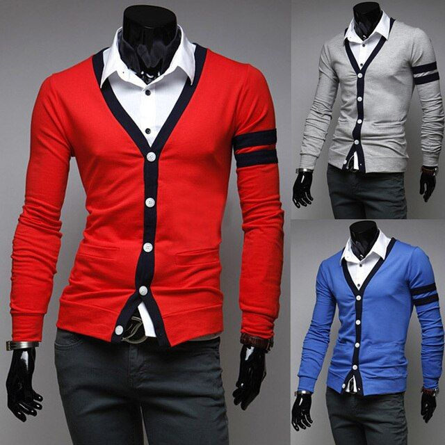 Free Shipping 2015 New Men cardigan fashion casual sweater Men's long sleeve sweaters 3 colors