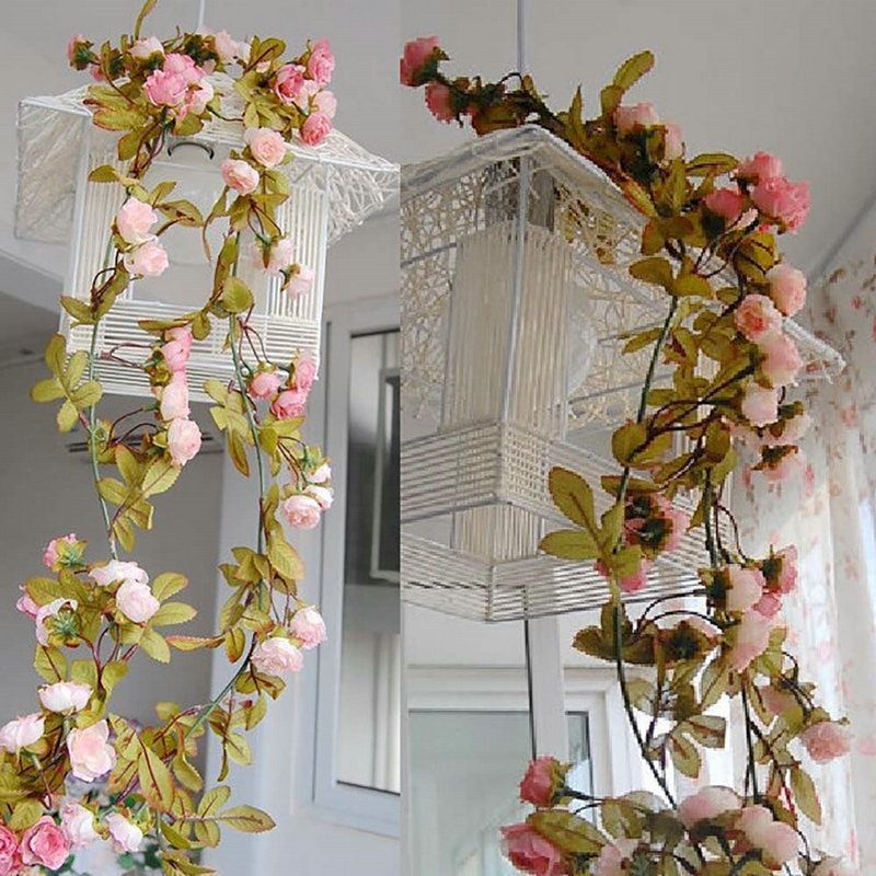Artificial Fake Rose Flower Vine Autumn Leaf Hanging Garland Wedding Home Decor