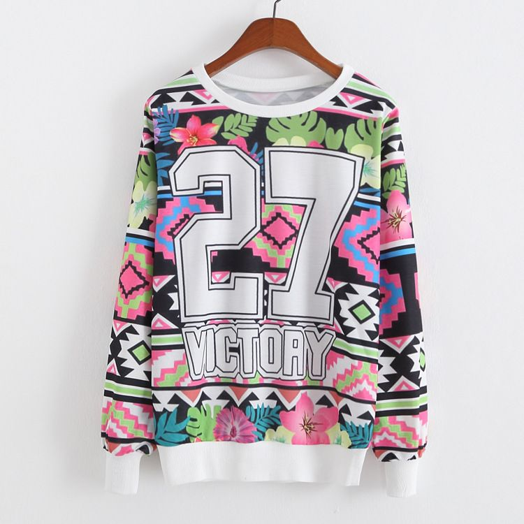 New College autumn Wind Women Hoodies  Fashion Cartoon Sweatshirts Casual Printed Mixed Color long sleeve o neck sweatshirt tops