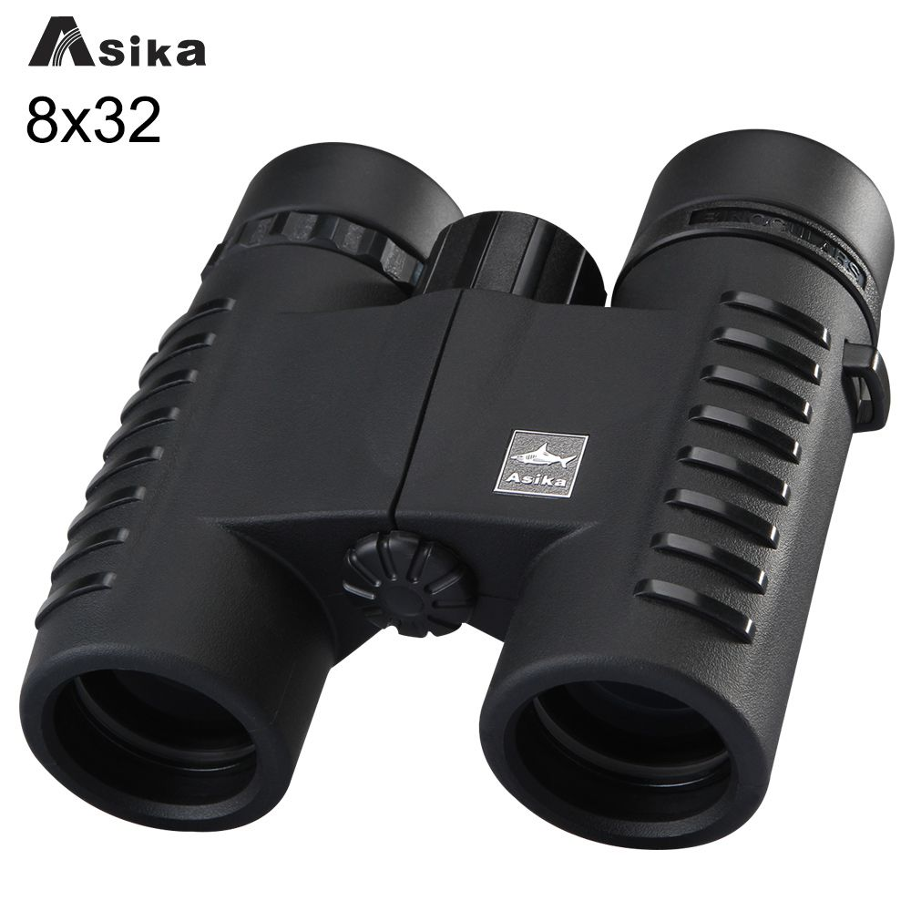Multi-color 8x32 Compact Binoculars Asika Telescope Bak4 Prism Optics Camping Binoculars Neck Strap Carry Bag