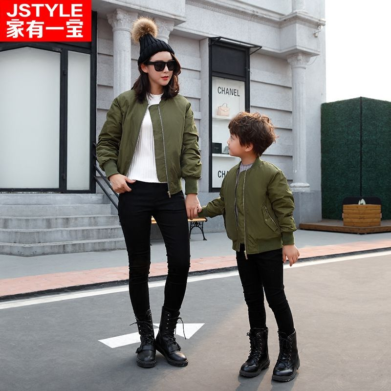 Matching Family Clothing 2016 Christmas Boys Jackets Family Look Matching Mother Daughter Father Son Winter Cotton-padded Jacket