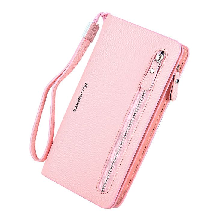 Baellerry HOT Selling Womens Famous Luxury Brand Big Wallet Zipper Trifold Purse Women Clutch Carteira Smart Phone Porte Carte