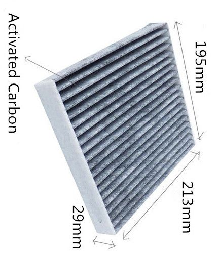 Wholesale 87139-52020 Factory Outlet WIX25411 Black Carbon Japaneser Car Cabin Air Filter CUK1919 WP9290 29*195*213mm