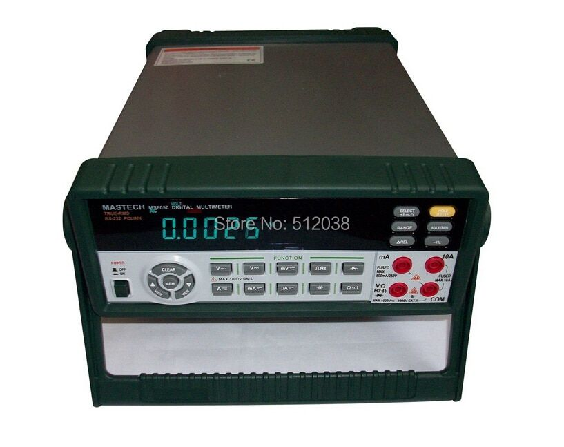 MS8050 BENCH Digital Multimeter True RMS RS232C W/Software dBm Linear/Logic frequency Duty cycle ACV/ACV DC OHM Capacitance