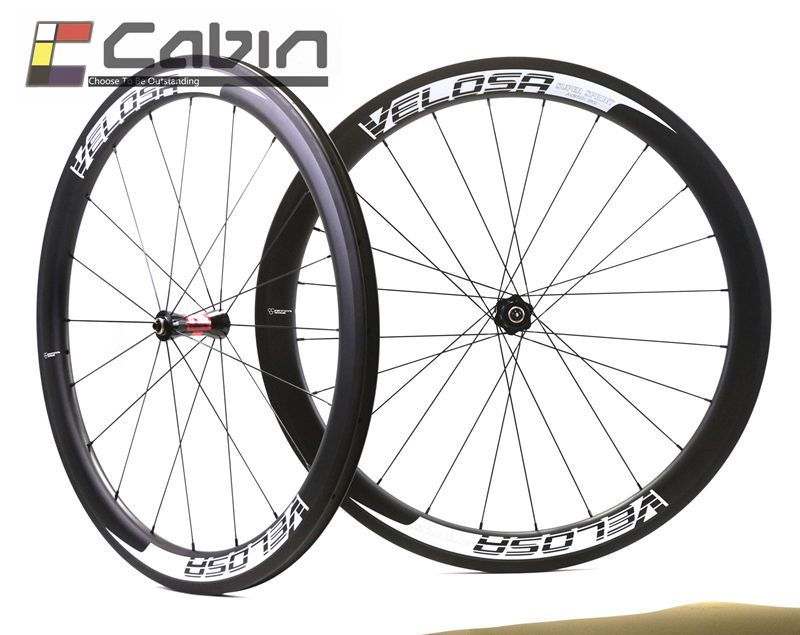 full carbon wheels, 700C road bike wheelset, 50mm clincher/tubular ceramic bearing hub