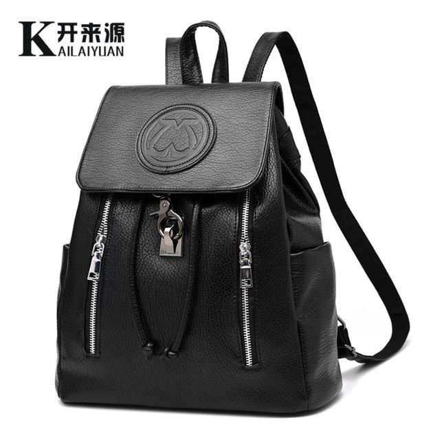 Kai 100% Genuine leather Women backpack 2016 New female backpack spring and summer fashion casual Korean embossed