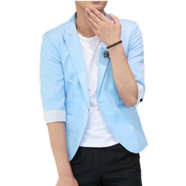 2016 of the spring and summer, new seven quarter fashion casual suit jacket slim men.