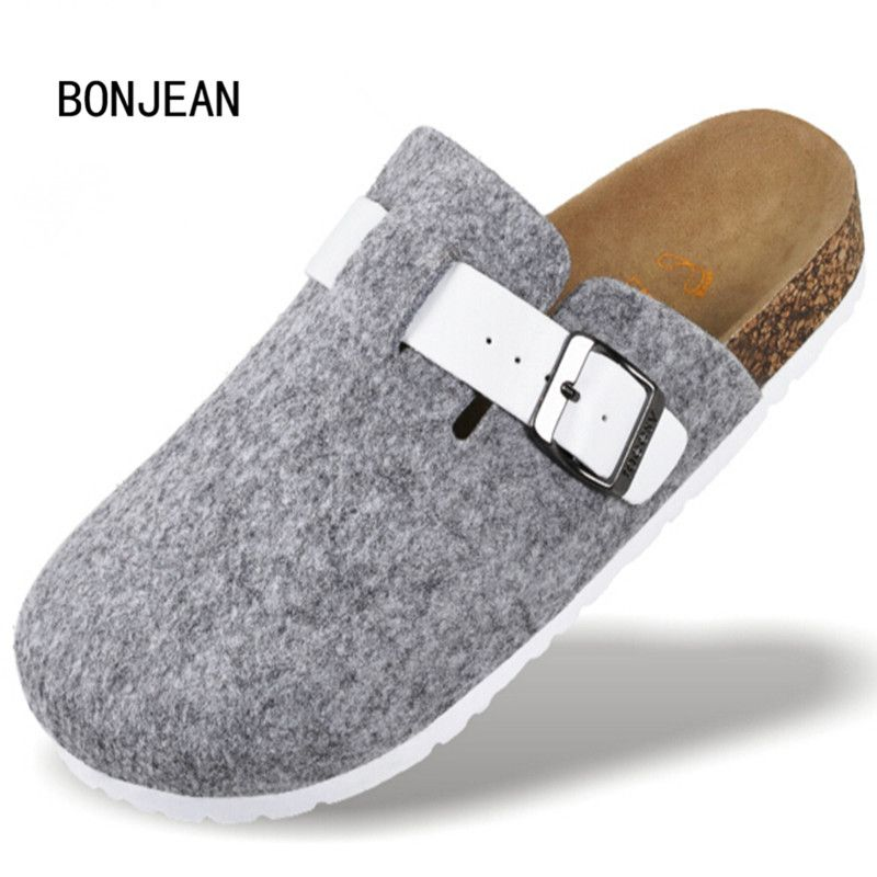 On Sale Men Shoes Cork Shoes Casual Shoes Sandals Flats Slides Men Unisex Closed Toe Sandals Buckle Slippers Plus Size 39-44