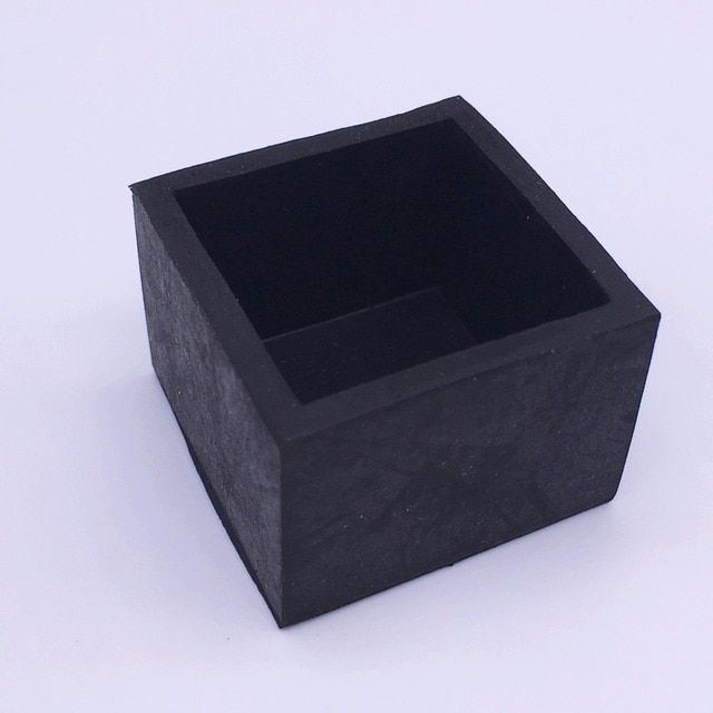 35x35mm Rubber Feet Bumpers Rubber Pads Square Bushings for Furniture Steel Pipe Chair Black Pack 50